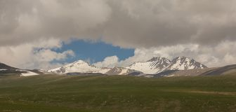Armenian Mountains Aragats Mountains.  Royalty Free Stock Images