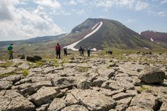 Armenian Mountains Geghama Mountains. Ajdahak Royalty Free Stock Image