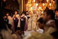 Armenian Orthodox mass in Jerusalem Royalty Free Stock Photography