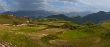 Armenian ploughland. Land under the plough in Armenia Stock Photo