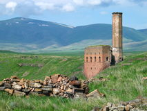 Armenian ruins. Ruined mosque in the ancient Armenian City of Ani, Turkey Stock Photo