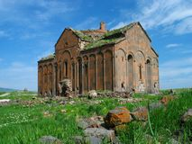 Armenian ruins. Ruined church in the ancient Armenian City of Ani, Turkey Stock Photos