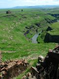 Armenian ruins. Ruined city of Ani on the modern Turkish-Armenian border. This was the iron curtain in Soviet times Stock Image