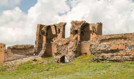Armenian ruins erosion Royalty Free Stock Photo