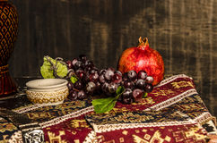 Armenian Still life on old fashion background Royalty Free Stock Image