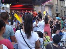 """Armenian street"" outdoor festival in Bucharest, Romania, on August 8, 2015 Stock Photos"