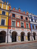 Armenian tenement houses, Zamosc, Poland. So called Armenian tenement houses in the Great Market square in the old town of Zamosc Royalty Free Stock Image