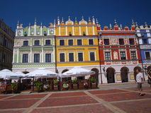 Armenian tenement houses, Zamosc, Poland. So called Armenian tenement houses in the Great Market square in the old town of Zamosc, Lublin Stock Images