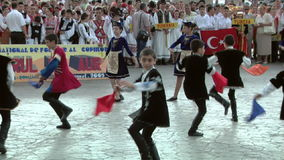 Armenian traditional dance at the International Folklore Festival stock video