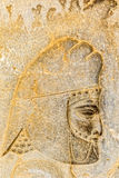 Armenian tribute head relief detail Persepolis Royalty Free Stock Photography