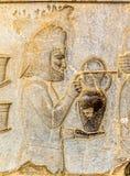 Armenian tribute relief detail Persepolis Stock Image