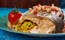 Armenian Trout dish royalty free stock photo