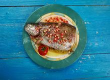 Armenian Trout dish stock image