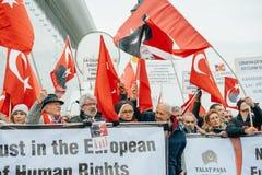 Armenian and Turkey diaspora protesting Royalty Free Stock Photography