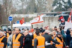 Armenian and Turkey diaspora protesting Stock Photo