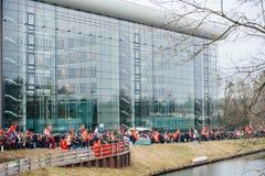 Armenian and Turkey diaspora protesting Royalty Free Stock Image