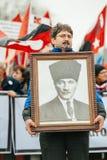 Armenian and Turkey diaspora protesting Stock Image