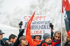 Armenian- und Türkei-Diasporaprotest Stockbilder