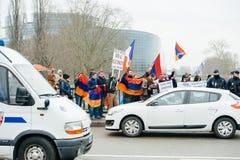 Armenian- und Türkei-Diasporaprotest Lizenzfreies Stockfoto