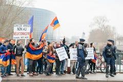 Armenian- und Türkei-Diasporaprotest Stockfotos