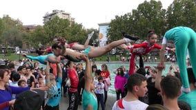 Armenien, Acrobates in Eriwan lizenzfreies stockfoto