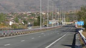 armenien Aragazotn-Provinz roadscape mit Bergen lizenzfreie stockbilder