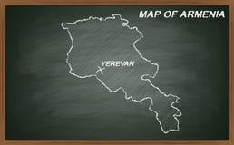 Armenien auf Tafel Stockfotografie