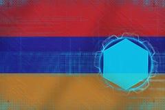 Armenien digital modell Elektroniskt rambegrepp Arkivbilder