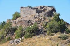 Armenien fästningen för 11th-århundrade av Amberd Arkivbilder