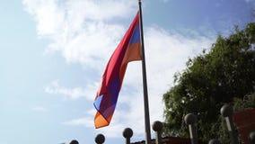 Armenien fahnenschwenkend stock footage