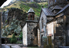 Armenien. Hof des Gegard Höhleklosters Lizenzfreies Stockbild