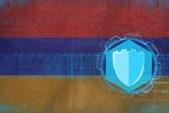 Armenien internetskydd Rengöringsduksäkerhetsbegrepp Royaltyfri Fotografi