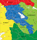 Armenien-Karte Stockfoto