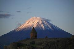 Armenien. Kleiner Ararat. Morgen Stockbild