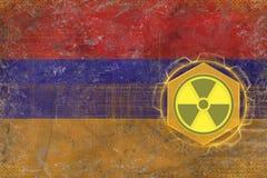 Armenien radioaktivt hot Utstrålningsfarabegrepp Arkivbilder