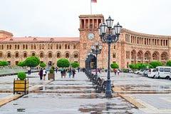 Armenien Republik fyrkant Arkivbild