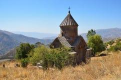Armenien, Tsahats-karkloster in den Bergen, die Kirche von Jahrhundert 10 Lizenzfreie Stockfotos