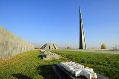 Armenien Yerevan, monument till folkmordet Royaltyfria Foton