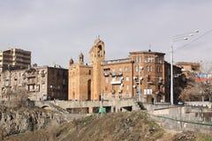 armenien yerevan Veiw von Straßen Stockfotografie