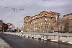 armenien yerevan Veiw von Straßen Lizenzfreies Stockfoto