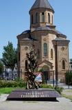 Armenische apostolische Kirche Surb Arutyun Monument zu den Opfern des armenischen Genozids Rostov-On-Don, Russland 2. August, lizenzfreie stockfotos