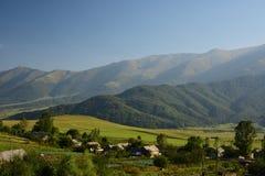 Armenische Hochländer Dorf in den Bergen Lizenzfreies Stockfoto