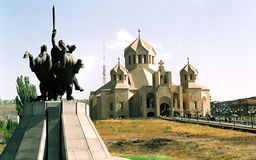 Armenische Kirche. Stockfotos