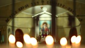 Armenische Kirche und Jungfrau Maria stock video footage