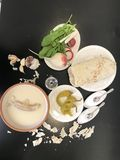 Armenische Suppe Khash lizenzfreie stockbilder
