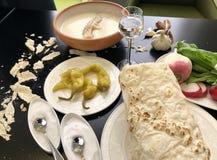 Armenische Suppe Khash stockbild