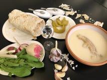 Armenische Suppe Khash stockbilder