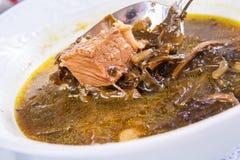 Armenische Suppe mit Fleisch stockfoto