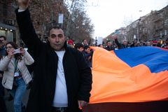 Armenischer Marsch stockfoto