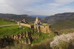 Armenisk apostolisk kyrka och kloster av Tatev i landskapet av Syunik av Armenien royaltyfri fotografi
